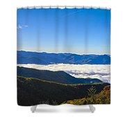 Clouds Below Watterock Knob At Sunrise Shower Curtain