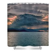 Clouds Explosion Shower Curtain