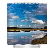 Clouds Flying Clouds Floating Shower Curtain