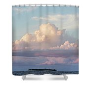Clouds Glow In The Sky During Sunset Shower Curtain