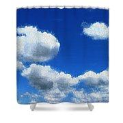 Clouds In A Blue Sky Shower Curtain