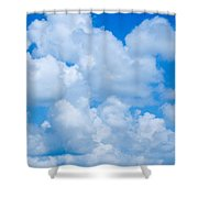 Clouds In Blue Sky Shower Curtain