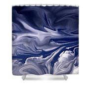 Clouds In Chaos Shower Curtain