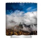 Clouds In Haleakala Shower Curtain