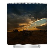 Clouds In New Mexico Shower Curtain