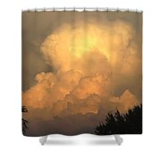 Clouds In The Evening II Shower Curtain