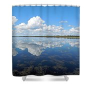 Clouds In The Lake Shower Curtain