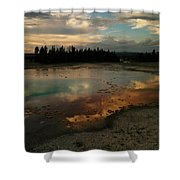 Clouds In The Water Shower Curtain