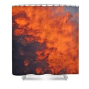 Clouds Of Fire Shower Curtain