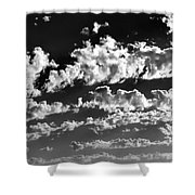 Clouds Of Freycinet Bw Shower Curtain