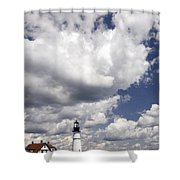 Clouds Of Glory - Portland Headlight Shower Curtain