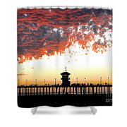 Clouds On Fire Shower Curtain