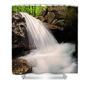 Clouds On The Creek Shower Curtain