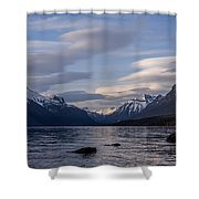 Clouds On The Lake Shower Curtain