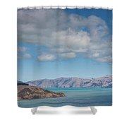 Clouds Over Akaroa Harbor, Akaroa Shower Curtain