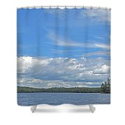 Clouds Over Algoma Shower Curtain