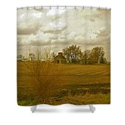 Clouds Over An Illinois Farm Shower Curtain