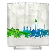Clouds Over Berlin Germany Shower Curtain by Aged Pixel