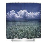 Clouds Over Bora Bora Shower Curtain