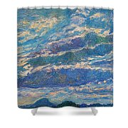 Clouds Over Buffalo Mountain Shower Curtain