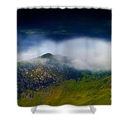 Clouds Over Bull Crag And Maiden Moor Shower Curtain
