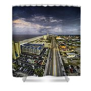 Clouds Over Gulf Shores Shower Curtain