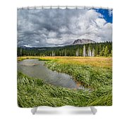 Clouds Over Hat Lake Shower Curtain