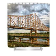 Clouds Over King Bridge Shower Curtain