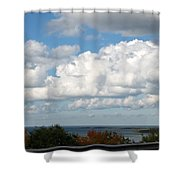 Clouds Over Lake Michigan Shower Curtain
