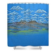 Clouds Over Lassen Shower Curtain
