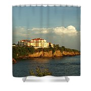 Clouds Over Library Shower Curtain