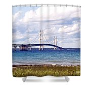 Clouds Over Mackinaw Shower Curtain