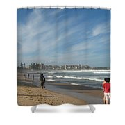 Clouds Over Manly Beach Shower Curtain