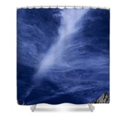 Clouds Over Middle Palisades Glacier California Shower Curtain