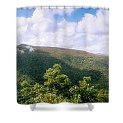Clouds Over Mountain, Sunset Rock Shower Curtain