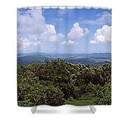 Clouds Over Mountains, Flores Island Shower Curtain