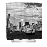 Clouds Over New York Shower Curtain