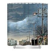 Clouds Over Philadelphia Shower Curtain