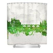 Clouds Over Prague Czech Republic Shower Curtain by Aged Pixel
