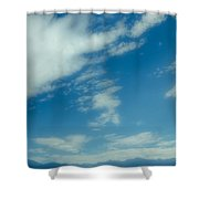 Clouds Over Priest Lake Shower Curtain