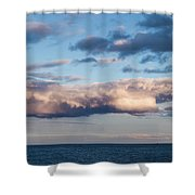 Clouds Over The Atlantic Ocean At Dusk Shower Curtain