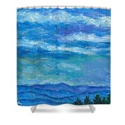 Clouds Over The Blue Ridge Shower Curtain