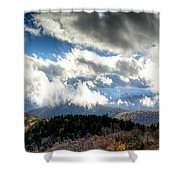 Clouds Over The Blue Ridge Mountains Shower Curtain