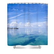 Clouds Over The Ocean, Florida Keys Shower Curtain