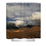 Clouds Over The Organ Mountains Shower Curtain