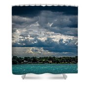 Clouds Over The River Shower Curtain