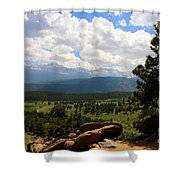 Clouds Over The Rockies Shower Curtain