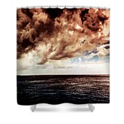 Clouds Over The Water Shower Curtain