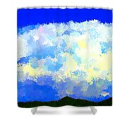 Clouds Overhead Shower Curtain