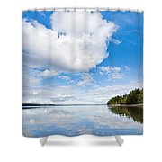 Clouds Reflected In Puget Sound Shower Curtain